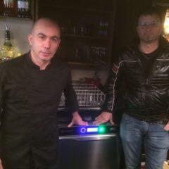 Installazione lavastoviglie Krupps presso ristorante Acquasalsa a Treviso / Krupps dishwasher installation at Acquasalsa restaurant in Treviso